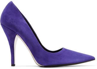 Calvin Klein Rosaine Suede Pumps - Purple