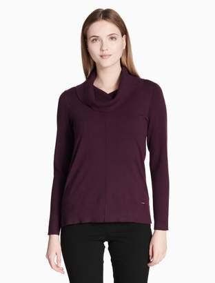 Calvin Klein cowl neck stitch pullover sweater