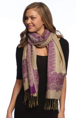 Couture Peach Tribal Paisley Floral Elephant Animal Print Infinity Loop Scarf
