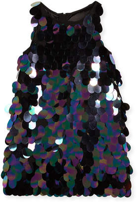 Milly Minis Paillette Sequin Angular Shift Dress, Size 8-16