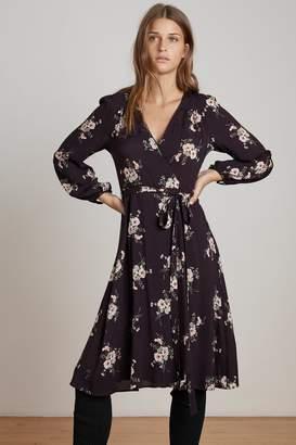 Velvet by Graham & Spencer POMONA FLORAL PRINTED CHALLIS WRAP DRESS