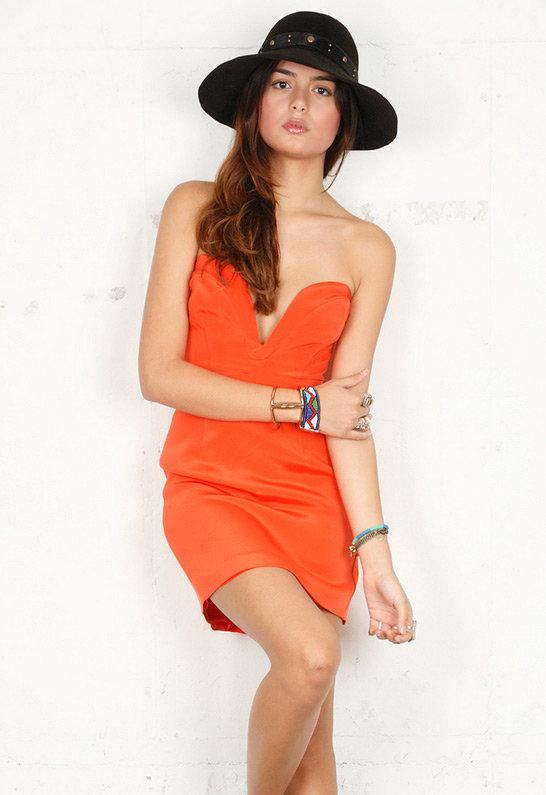 Taryn Dress in Orange - by Ani Lee