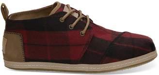 Red Plaid Felt Women's Bota Boots