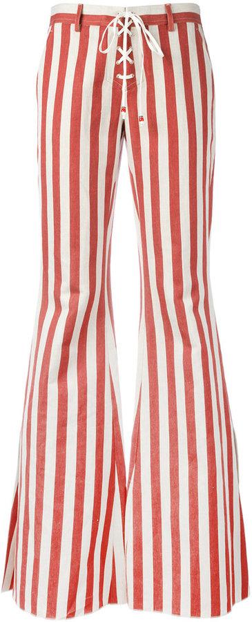 Roberto CavalliRoberto Cavalli striped flared jeans
