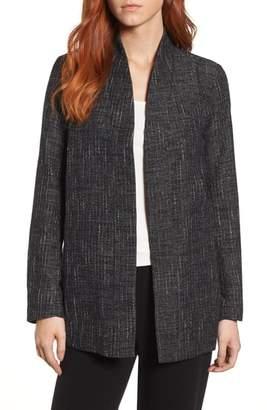 Eileen Fisher Stand Collar Kimono Jacket