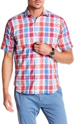 Thomas Dean Plaid Short Sleeve Shirt