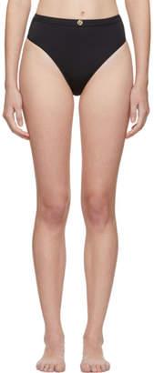Versace Underwear Black Medusa Coin High-Waisted Bikini Bottoms