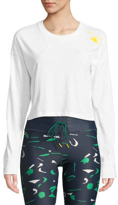 The Upside Rise And Shine Long-Sleeve Crop Top