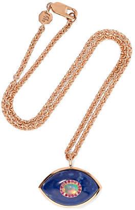 Marlo Laz - Iris 14-karat Rose Gold Multi-stone Necklace