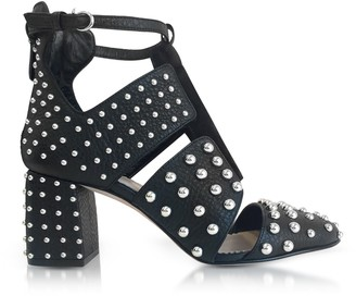RED Valentino Black Leather Studded Boots