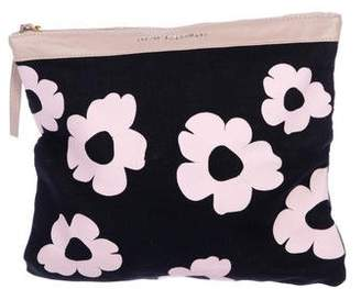 Lizzie Fortunato Leather-Trimmed Floral Print Clutch