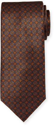 Brioni Box-Print Silk Tie