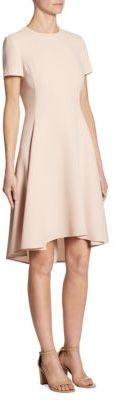 DKNY Asymmetrical Hem Short Sleeve Dress $159 thestylecure.com