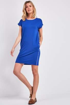 Barbour Womens International Metallic Stripe Bankso Dress - Blue