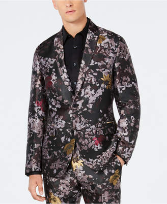 INC International Concepts Inc Men's Slim-Fit Metallic Floral Burst Blazer