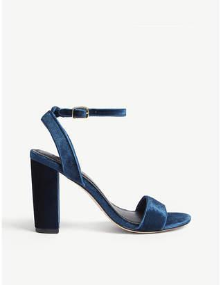 Sandro Adrianne velvet block heels