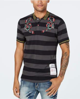 Reason Men's Serpent Embroidered Stripe Polo