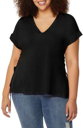 Rebel Wilson X Angels V-Neck Lace-Up Tee