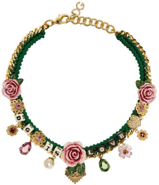 Dolce & Gabbana Green is Love Necklace