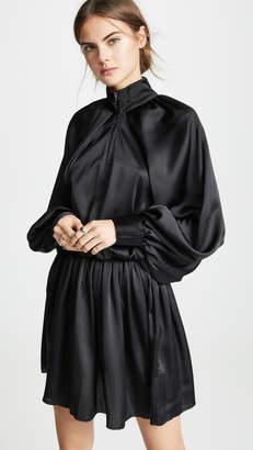 ANAÏS JOURDEN Satin Windbreaker Mini Dress