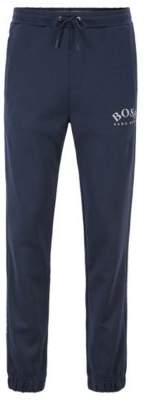Slim-fit jogging pants with logo and cuffed hems