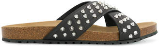 DSQUARED2 studded crossover sandals