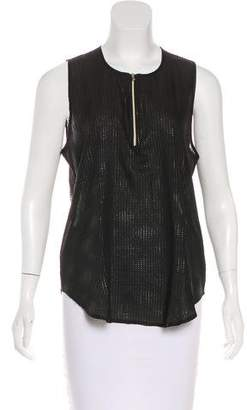 L'Agence Sleeveless Textured Top