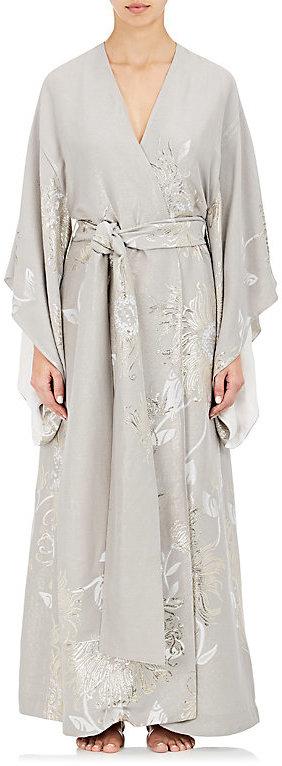 Carine GilsonCarine Gilson Women's Silk Jacquard Kimono Long Robe