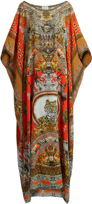 CAMILLA Hangzhou Hollywood-print silk kaftan $600 thestylecure.com