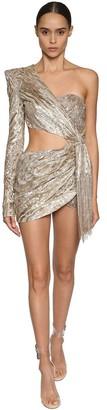 Julien Macdonald One Shoulder Sequin Embellished Dress