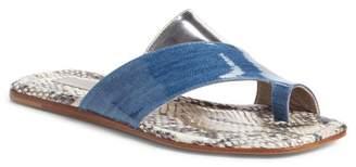 Attilio Giusti Leombruni Asymmetrical Toe Loop Slide Sandal
