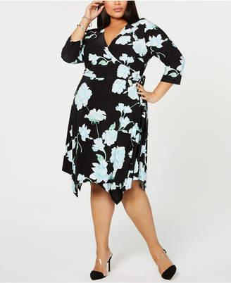 c5c3de01979 INC International Concepts I.n.c. Plus Size Floral Hanky-Hem Wrap Dress