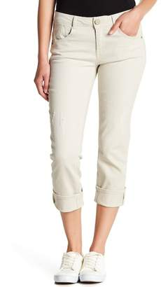 Democracy Distressed Crop Jeans (Petite)