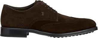 Tod's Men's Suede Wingtip Bluchers - Dk. brown