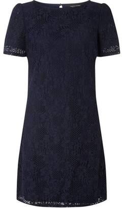 Dorothy Perkins Womens Navy Lace Shift Dress