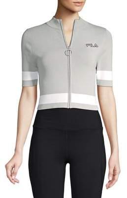Fila Short-Sleeve Zip Cropped Jacket