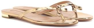 Aquazzura Riva metallic leather sandals