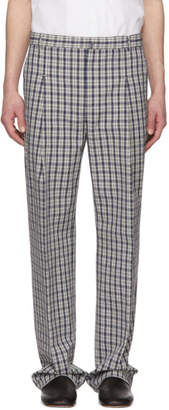 Acne Studios Blue Check Kalnar Suit Trousers