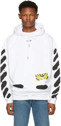Off-White White Spray Paint Hoodie