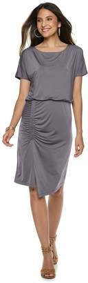 JLO by Jennifer Lopez Women's Shirred Blouson Dress