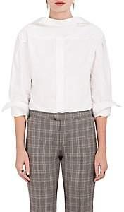 R 13 Women's Cotton Basket-Weave Button-Front Shirt