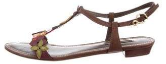 Louis Vuitton Leather Floral Sandals