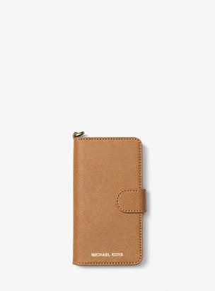 Michael Kors Saffiano Leather Folio Phone Case For Iphone7/8