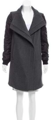 Tess Giberson Wool-Cashmere Knee-Length Coat
