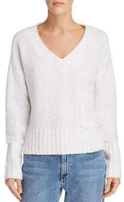 ATM Anthony Thomas Melillo Chenille V-Neck Sweater