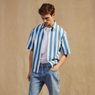 Sandro Casual striped short-sleeved shirt
