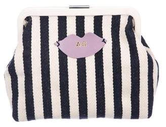 Clare Vivier Striped Canvas Frame Bag