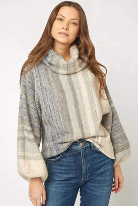 Fate By Lfd Fate by LFD Billow Sleeve Vertical Stripe Pullover