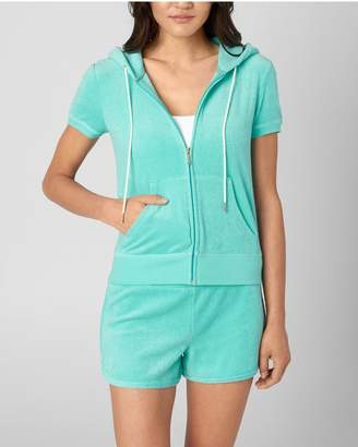 Juicy Couture JUICY ROPE MICROTERRY SHORT SLEEVE ROBERTSON JACKET