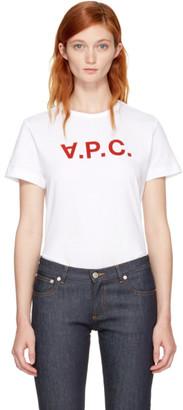 A.P.C. White 'V.P.C.' T-Shirt $95 thestylecure.com